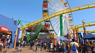Fun At Santa Monica Pier