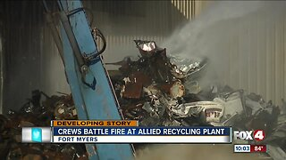 Fire at recycling facility causes plume of smoke in Fort Myers