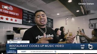 local restaurant cooks up music video to bring in business