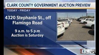 Clark County preparing for government surplus auction Saturday