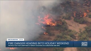 Fire danger heading into holiday weekend