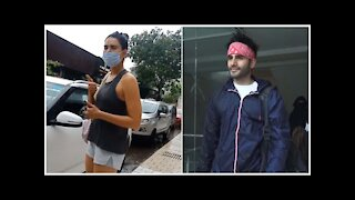 Karishma Tanna & Karan Tacker Snapped Outside A Gym