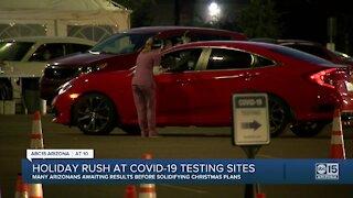 Holiday rush at COVID-19 testing sites