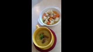 Vegetarian soup ( Χορτοσουπα )