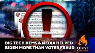 Big Tech Democrats, Media Helped Biden More Than Voter Fraud