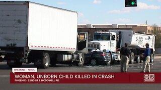 Woman, unborn child killed in Phoenix crash