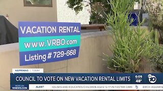 SD Council to vote on new vacation rental limits