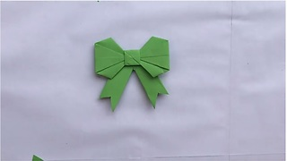 Origami magic: How to make a paper bow