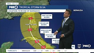Tropical Storm Elsa 5AM Update