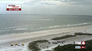 Beach cam time lapse shows wedding on Fort Myers Beach