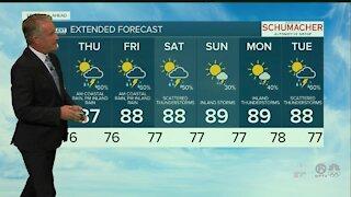 Latest Weather Forecast 6 p.m. Tuesday