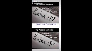 Top Verses To Memorize, Psalm 19:7