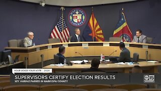 Maricopa County Board of Supervisors certify election results