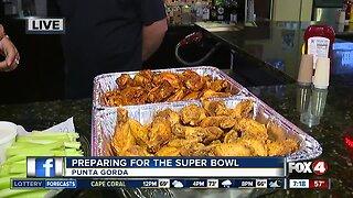 Preparing for Super Bowl snacks in Punta Gorda