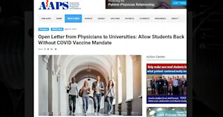 Physicians To Universities: Allow Students Back Without Covid Vaccine Mandate