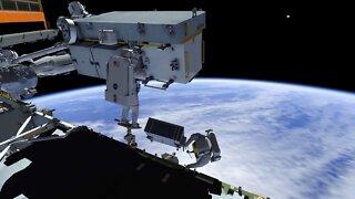 International Space Station Crew Conduct Spacewalk