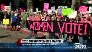 Hundreds gather downtown for Tucson Women's March 2020