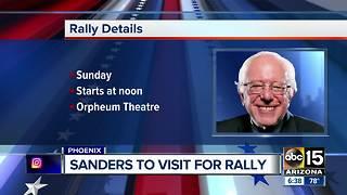 Bernie Sanders holding Phoenix rally this weekend
