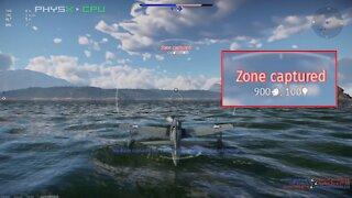 War Thunder Naval Arcade Battle sea zone capture with airplane!