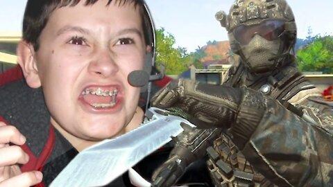 Gun Game Knife Only Trolling (HILARIOUS Reactions)