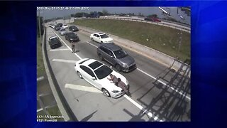 Surveillance video shows driver running over Florida state trooper