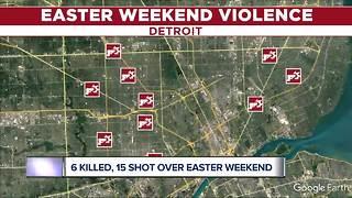 15 shot, 6 killed over violent Easter weekend in Detroit