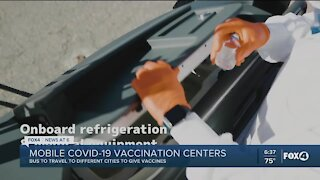 Mobile COVID vaccination centers rolled out this weekend