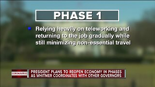 President plans to reopen economy in phases as Whitmer coordinates with other governors