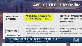 Executive order issued by Gov. Ducey on unemployment benefits