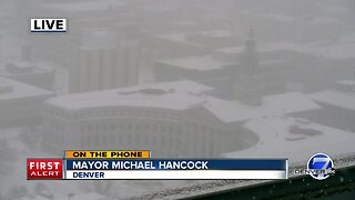 'Please stay indoors:' Denver mayor Hancock urges drivers to stay home