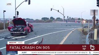 At least one person killed in 905 crash