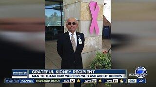 Kidney recipient will thank DMV workers today