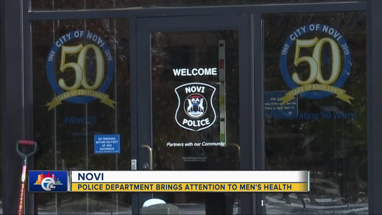 Novi Police Department brings attention to men's health
