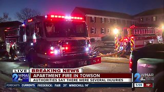 Several people injured in Towson apartment fire