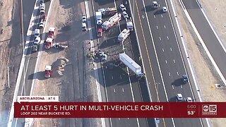 Multiple people injured in crash involving semi-trucks on new Loop 202