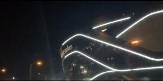 Lights being installed at Allegiant Stadium
