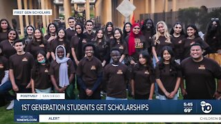 First-generation students get scholarships