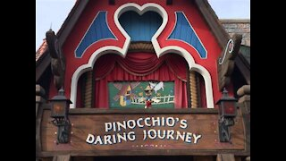 Pinocchio Ride Disneyland resort New Years Eve 2019. Filmed in 4K POV