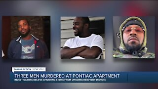 Suspect arrested after 3 killed, 1 injured in shooting at Pontiac apartment complex