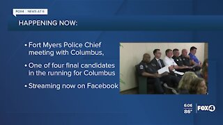 Fort Myers Police Chief interview for new job in Ohio happening tonight