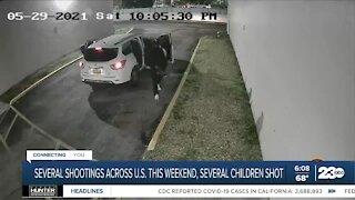 Several shootings across U.S. this weekend, several children shot