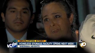 Homeless storage facility opens next week