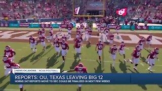 Oklahoma and Texas leave