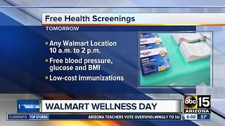Walmart offering free health screenings on Saturday
