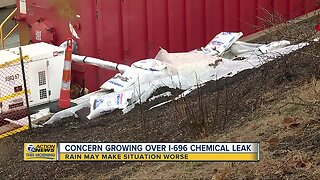 Concerns growing over I-696 chemical leak