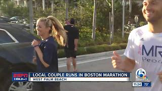 Local Palm Beach Couple run in Boston Maraton