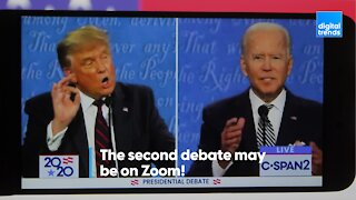 The second debate may be on Zoom!