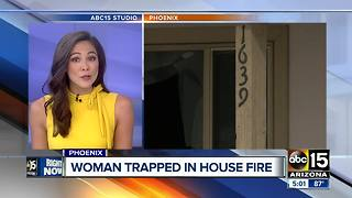 Woman rescued from Phoenix house fire