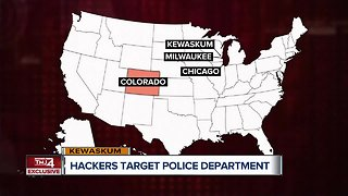 Hackers target police department