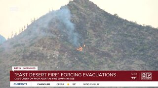 'East Desert Fire' grows to 1,500 acres, forcing evacuations